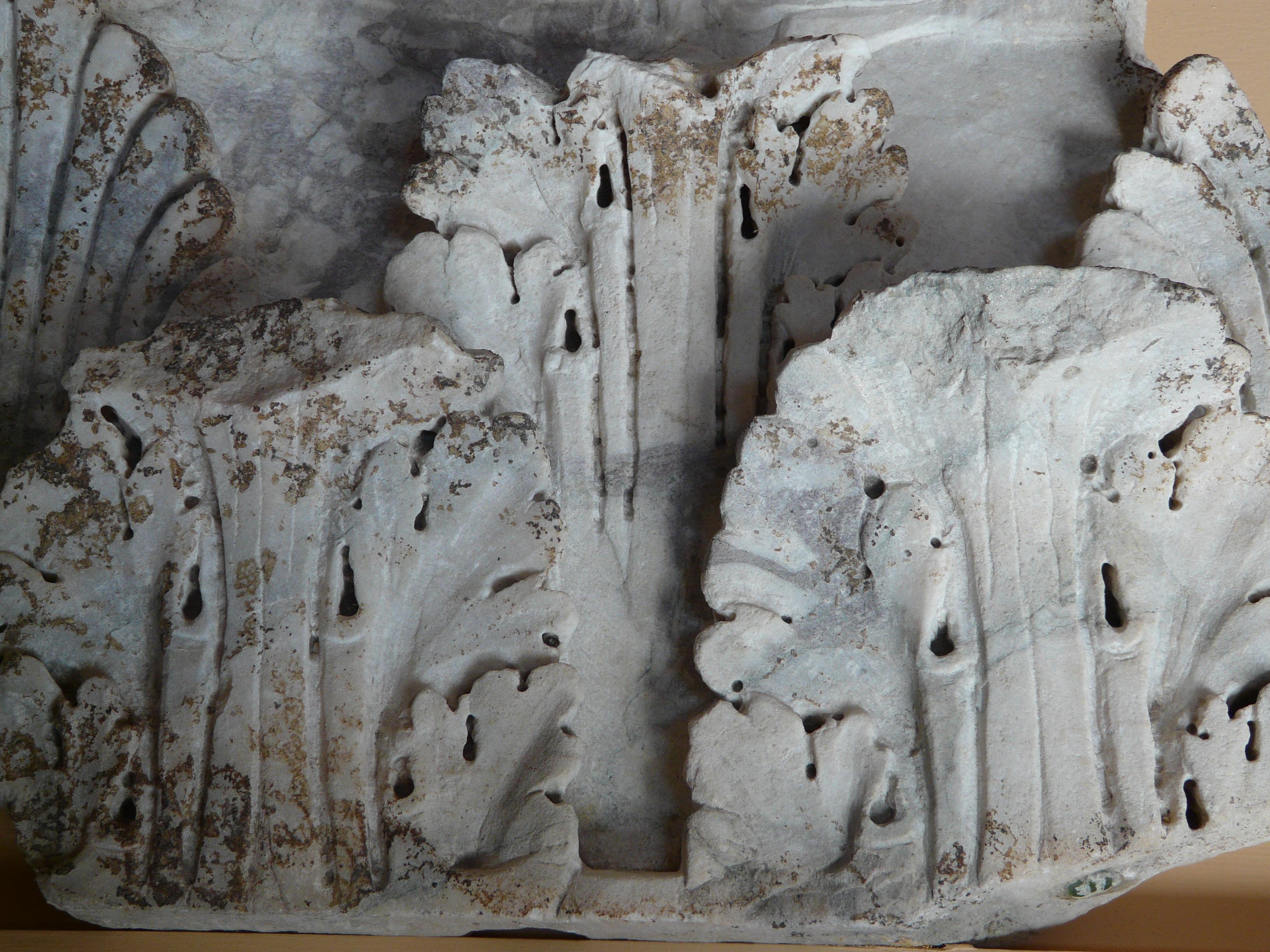 © Dipartimento di Scienze della Vita, Università di Trieste<br>by Andrea Moro<br>Roma, Museo dei Mercati di Traiano, capitello corinzieggiante di lesena rinvenuto nel giardino delle Milizie, RO, Lazio, Italia, 18/07/2011<br>Distributed under CC-BY-SA 4.0 license.