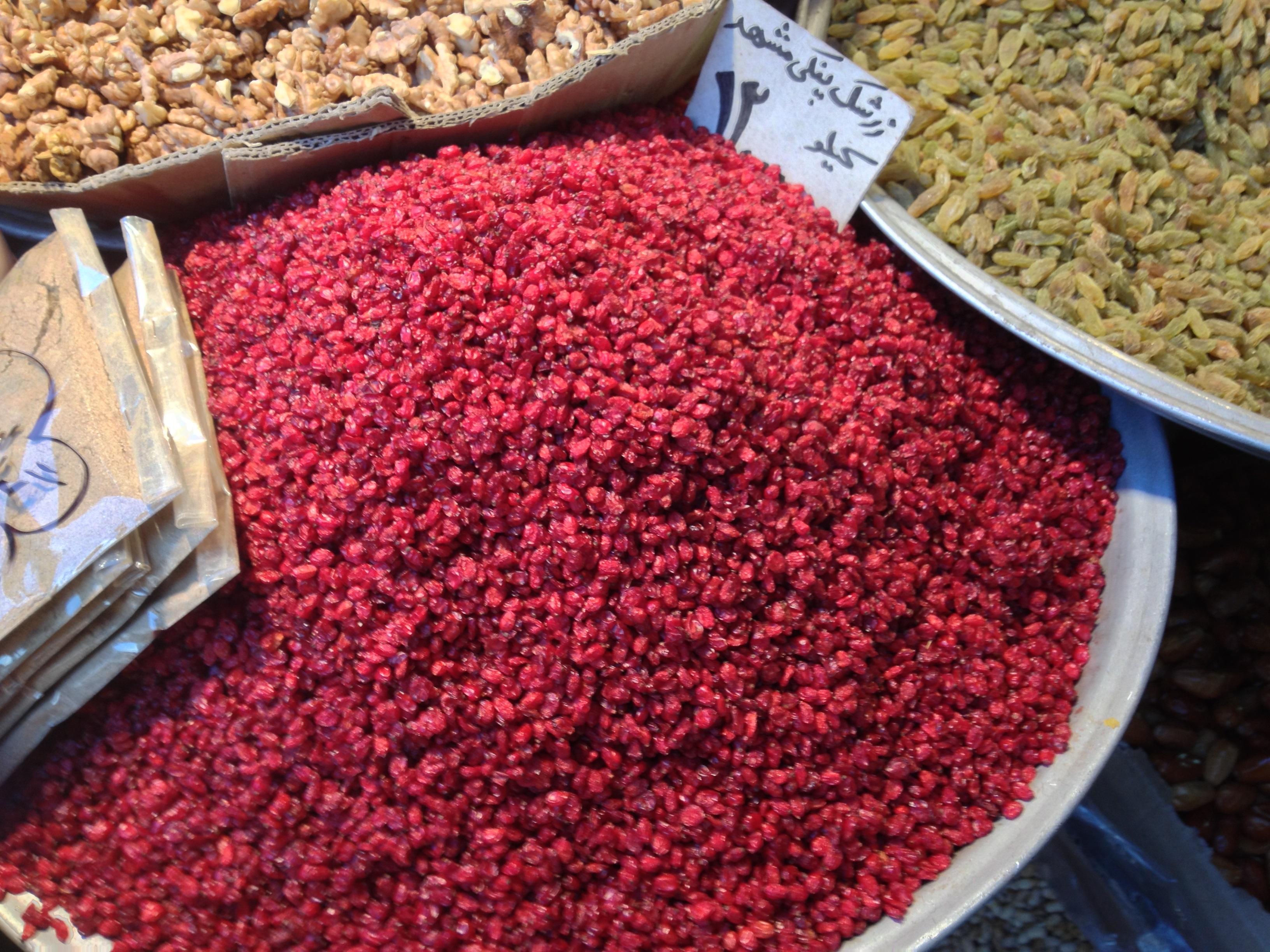 © Dipartimento di Scienze della Vita, Università degli Studi di Trieste<br>by Pier Luigi Nimis<br>Tehran, dried fruits sold in the bazar, Iran, 17/05/2013