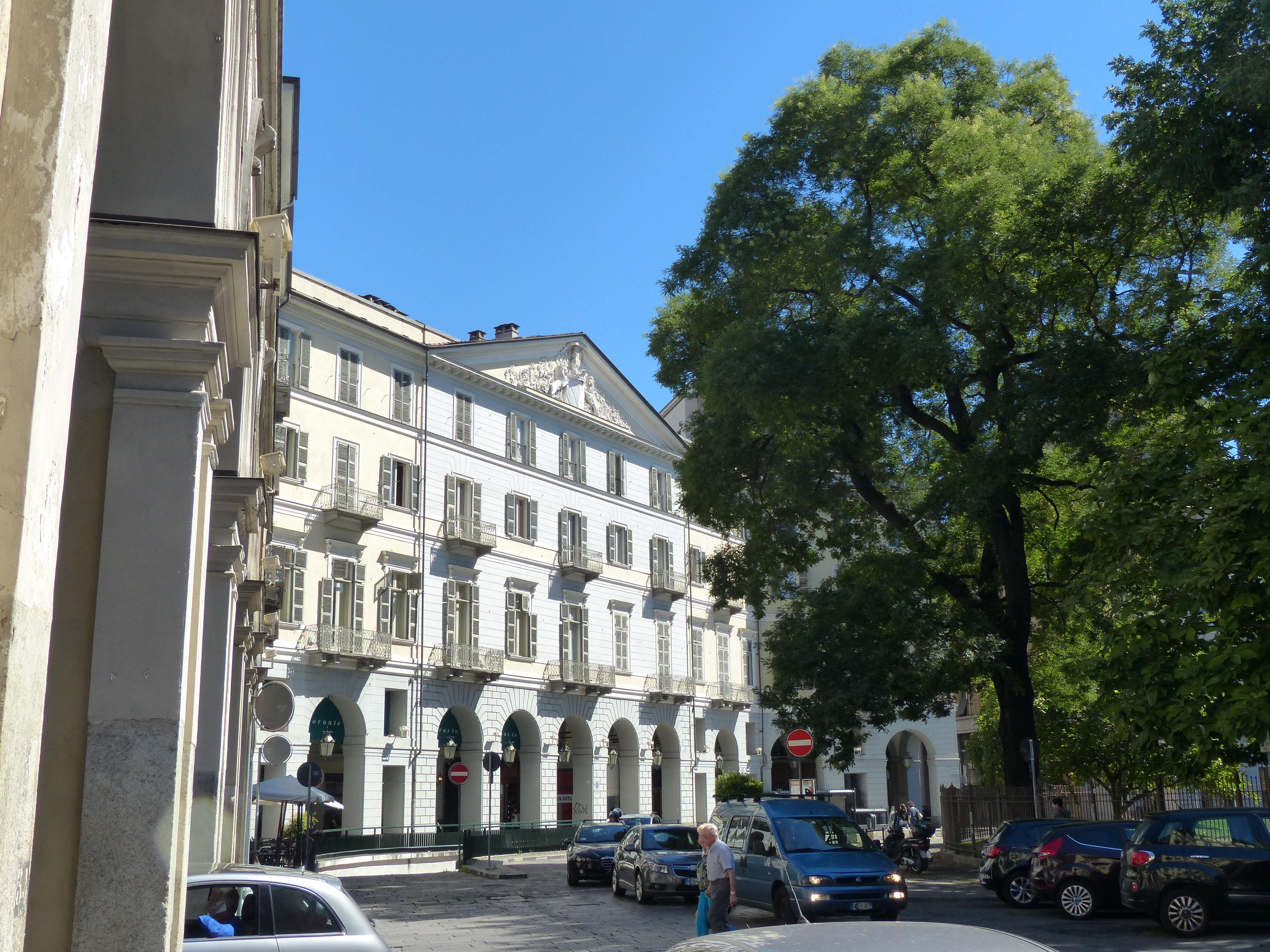 © Dipartimento di Scienze della Vita, Università di Trieste<br>by Andrea Moro<br>Comune di Torino, Piazza Carlo Felice, TO, Piemonte, Italia, 28/07/2016<br>Distributed under CC-BY-SA 4.0 license.